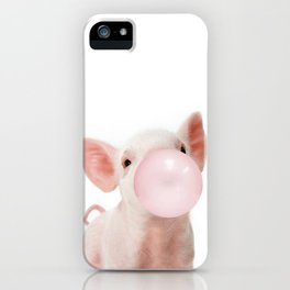 Bubble Gum Baby Pig iPhone Case