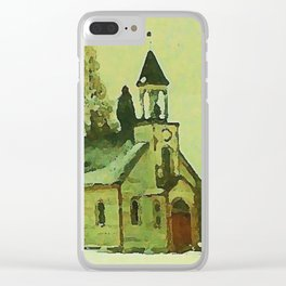 Wilderness Temple Clear iPhone Case