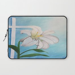 Easter Lilly Cross Laptop Sleeve