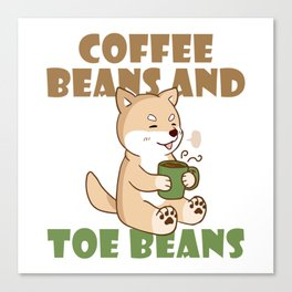 Coffee Beans and Toe Beans Canvas Print