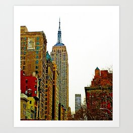 Empire State #oilpainting Art Print
