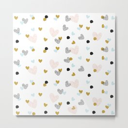 abstract pattern with hearts #society6 #homedecor Metal Print