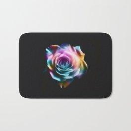 Tie Dye Colorful Rose Bath Mat