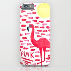 Pink Pretty Flamingo Pattern iPhone 6s Slim Case