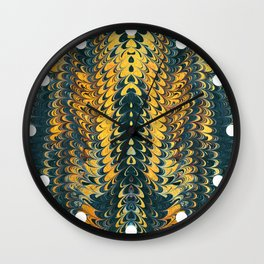 gold cactus marble Wall Clock