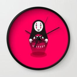 Kaonashi Doll Wall Clock