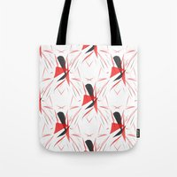 contemporary Tote Bags featuring Contemporary Abstract by lillianhibiscus