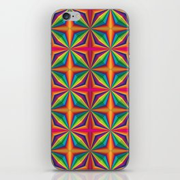Psychedelic Squares iPhone Skin