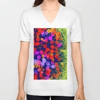 eggs V-neck T-shirts featuring Eggs by Marven RELOADED