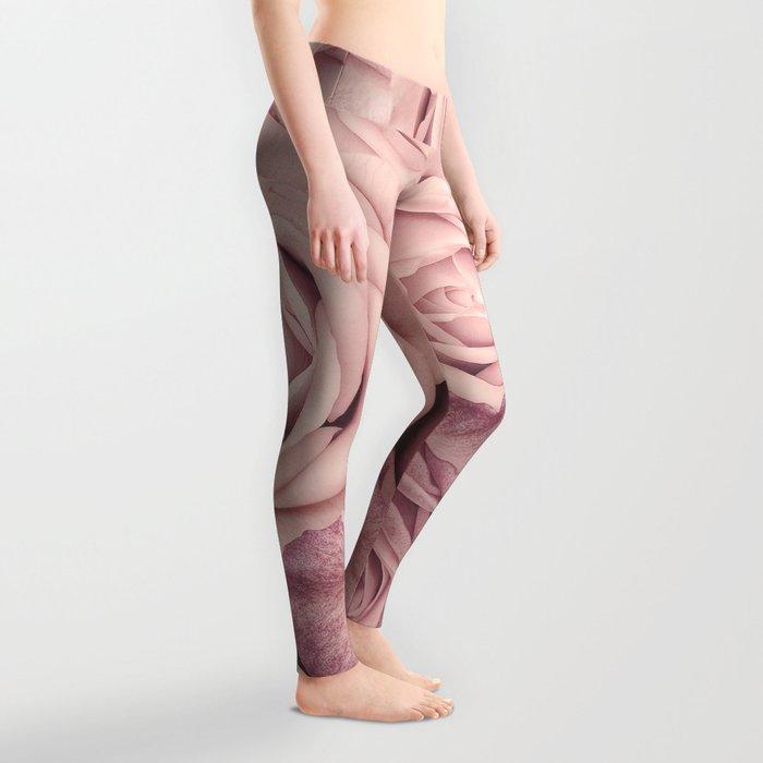 Some People Grumble - Pink Rose Pattern - Roses Leggings