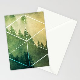 The Elements Geometric Nature Element of Earth Stationery Cards