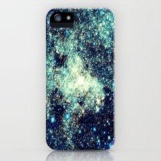 gAlAxY Stars : Teal Blue Slim Case iPhone (5, 5s)