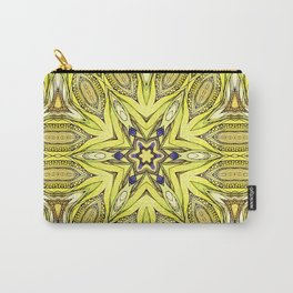 Yellow mandala Carry-All Pouch