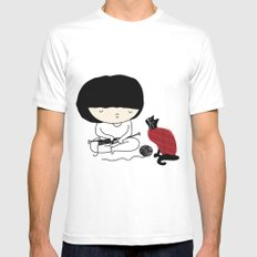 Crazy about wool White MEDIUM Mens Fitted Tee