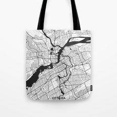 Ottawa Map Gray Tote Bag