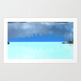 Fly:Horizon Art Print