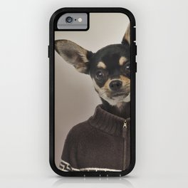 Chihuahua wearing a pullover iPhone Case