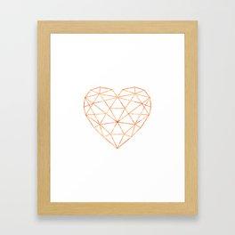 COPPER HEART (WHITE) Framed Art Print
