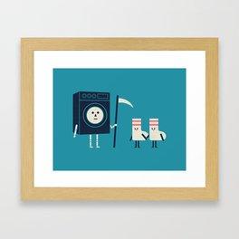 Grim Washer Framed Art Print