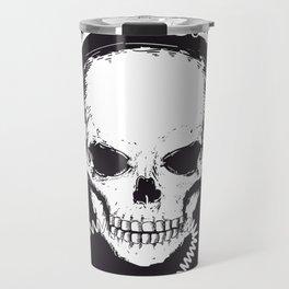 Skull with headphones Travel Mug