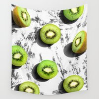 fruit Wall Tapestries featuring fruit 3 by LEEMO
