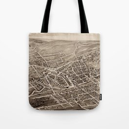 Vintage Pictorial Map of Hyde Park MA (1879) Tote Bag