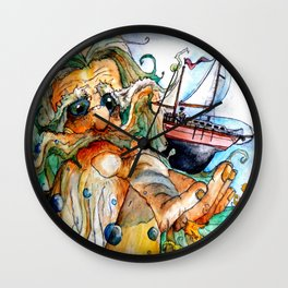 Old Man & The Sea  Wall Clock