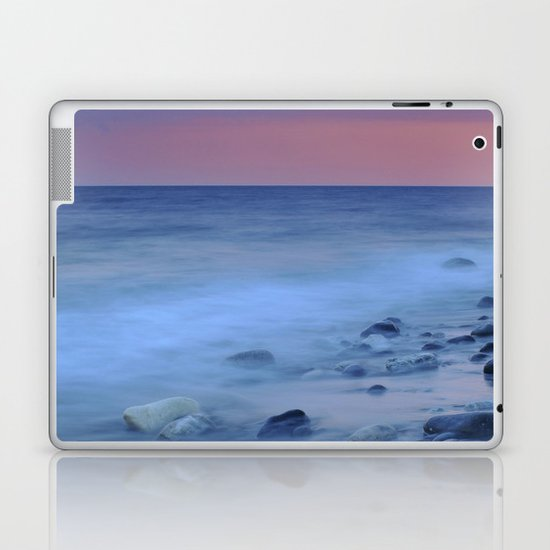 Blue stones at the sea Laptop & iPad Skin