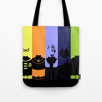 teen titans Tote Bags featuring Vector Titans by Hybryda