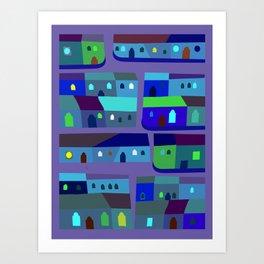 Tepito de Azul Art Print