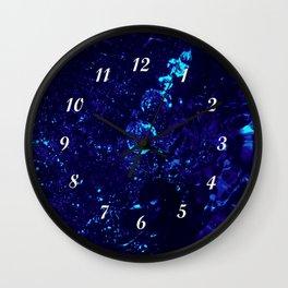 Blue Jacuzzi Bath Bubbles Wall Clock