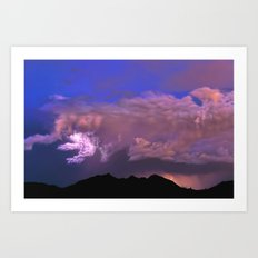Over Mystic Mountain Art Print