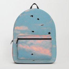 Dalmation Print Sky Backpack