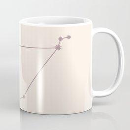 Capricorn Zodiac Constellation Neutral Rose Coffee Mug