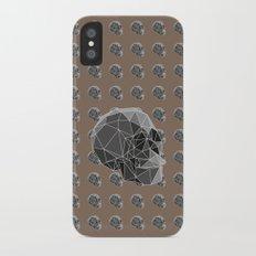Geometric skulls iPhone X Slim Case