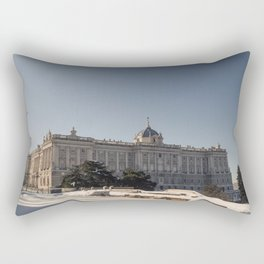 The Royal Palace of Madrid in the Snow Rectangular Pillow