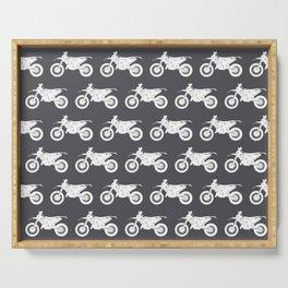 Dirt Bikes // Charcoal Grey Serving Tray