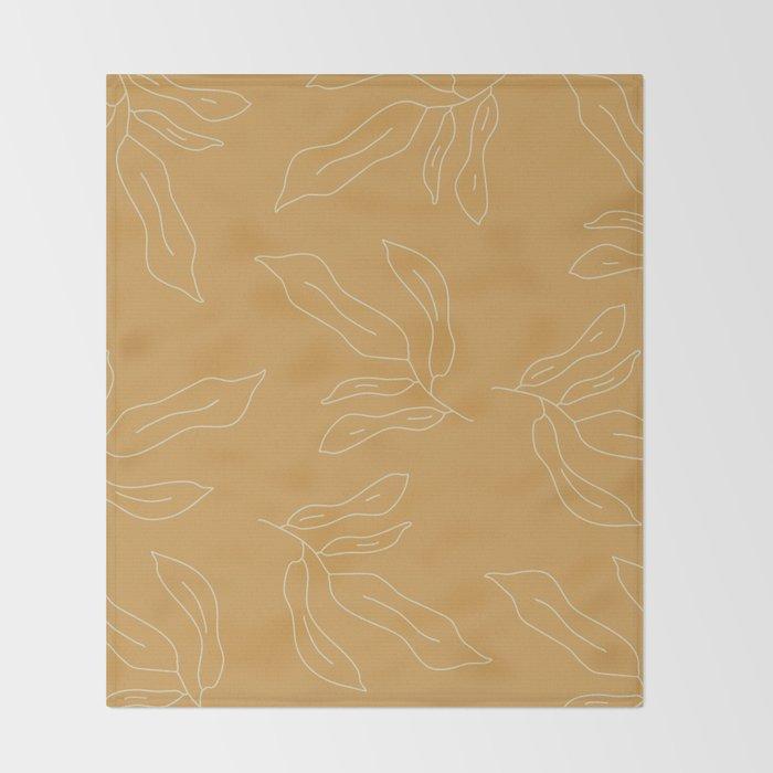 leave me alone line art Throw Blanket