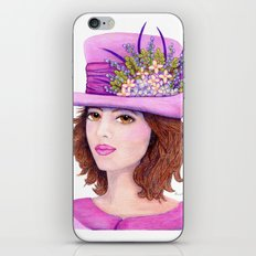 Doe-Eyed Girl by Jane Purcell iPhone Skin