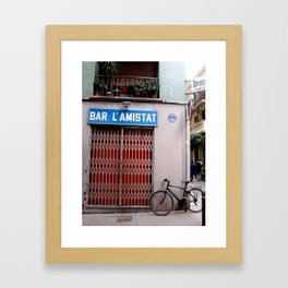 Bar L'Amistat Framed Art Print