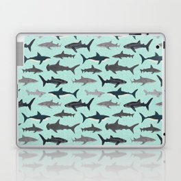 Sharks nature animal illustration texture print marine biologist sea life ocean Andrea Lauren Laptop & iPad Skin
