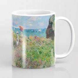 1882-Claude Monet-Cliff Walk at Pourville-66 x 82 Coffee Mug