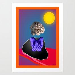 cerveau en surbrillance Art Print
