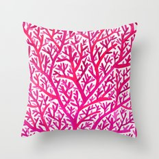 Fan Coral – Pink Ombré Throw Pillow
