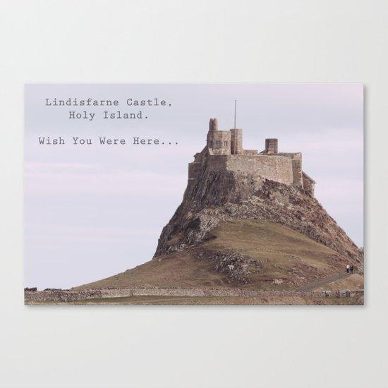 postcard from lindisfarne castle... Canvas Print