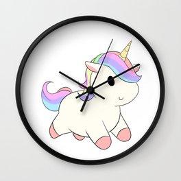 Kawaii Rainbow Unicorn Wall Clock