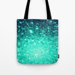 Stars Ombre Cool Aqua & Teal Tote Bag