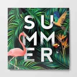 Summer Jungle Metal Print