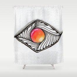 Doodled Gem Sparkle Eye Shower Curtain