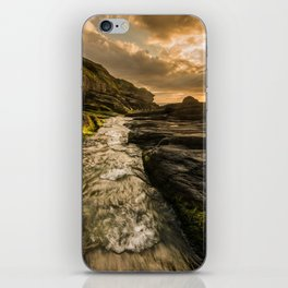 Trebarwith strand sunset iPhone Skin